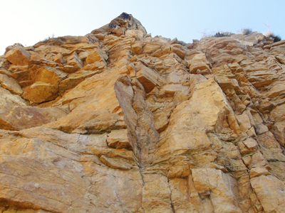 Imposante Felsen auf dem Weg  zum Aussichtspunkt