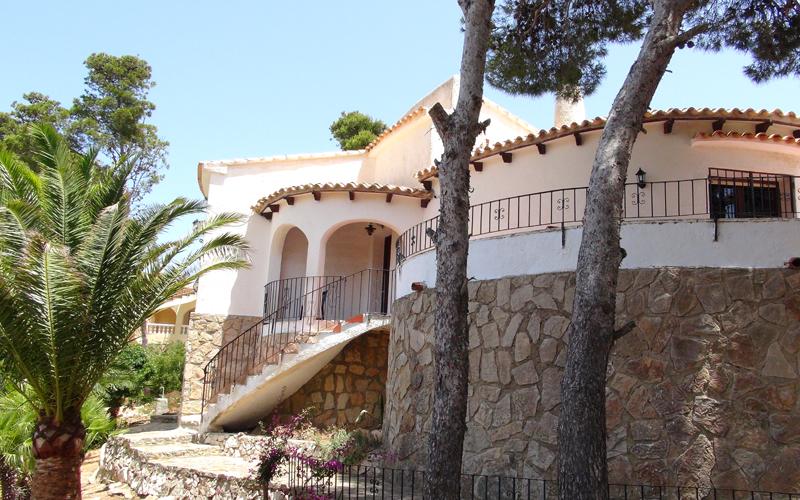 Das Ferienhaus in Spanien am Cap de la Nau.